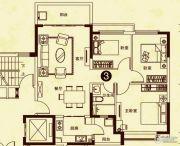 海南恒大御景湾3室2厅1卫109平方米户型图