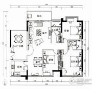 云顶澜山3室2厅2卫127平方米户型图