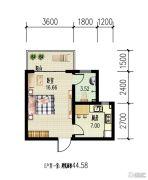锦绣蓝湾1室1厅1卫0平方米户型图