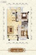 上官锦城2室2厅1卫76平方米户型图