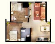 文化空间2室1厅1卫68平方米户型图
