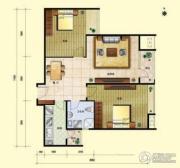 8哩岛2室2厅1卫86平方米户型图