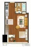 苏宁广场2室2厅1卫70平方米户型图