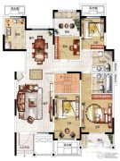 民安北郡4室2厅2卫147平方米户型图