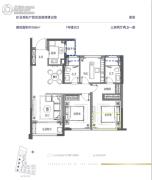 融创・大同府3室2厅2卫108平方米户型图
