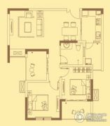 宏伟西雅图2室2厅1卫85平方米户型图