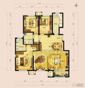 金地朗悦3室2厅2卫140平方米户型图