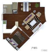 未来城国际中心1室2厅1卫0平方米户型图