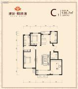 建发枫林湾3室2厅2卫0平方米户型图