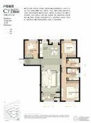 林荫大院3室2厅2卫138平方米户型图