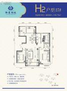 正丰・御景湖城2期4室2厅2卫0平方米户型图