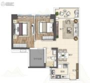 广州亚运城2室2厅2卫89平方米户型图