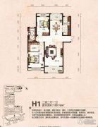 芭东海城2室2厅1卫129平方米户型图