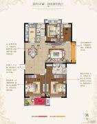 东方现代城4室2厅2卫137平方米户型图