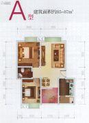 金地汇国际公寓2室2厅1卫85--87平方米户型图