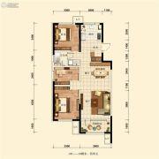 五矿・沈河金城3室2厅1卫105平方米户型图