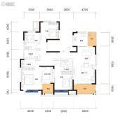 曲江・紫金城4室2厅2卫143平方米户型图