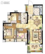 壹号公馆3室2厅1卫0平方米户型图