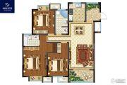 银洲皇家学苑3室2厅2卫126平方米户型图