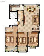 中正公馆3室2厅2卫138平方米户型图