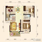 鸿坤国宾壹号3室2厅1卫102平方米户型图