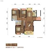 城市中央广场3室2厅2卫126平方米户型图