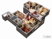 金地天际.�o华4室3厅3卫189平方米户型图