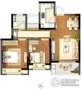 信达蓝尊2室2厅1卫0平方米户型图