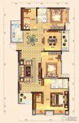 弘洋・拉菲小镇4室3厅2卫155平方米户型图