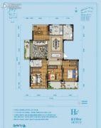 佳源湘湖印象4室2厅2卫139平方米户型图