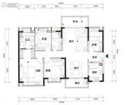 时代天境4室2厅2卫0平方米户型图
