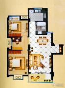 中泰华府3室2厅1卫98平方米户型图