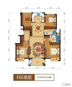 滨江西溪之星4室2厅2卫128平方米户型图