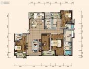 东胜紫御府3室2厅4卫228平方米户型图