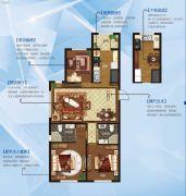永泰城3室2厅2卫0平方米户型图