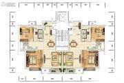 众美青城2室2厅1卫88平方米户型图