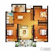信达银郡3室2厅1卫115平方米户型图