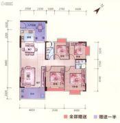 富丽嘉园3室2厅2卫0平方米户型图