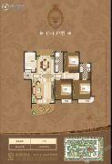 禹州御湖湾3室2厅2卫166平方米户型图