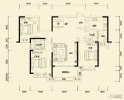 方直东岸3室2厅2卫126--131平方米户型图