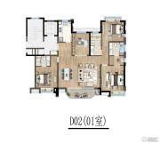青浦绿地中心4室2厅2卫0平方米户型图
