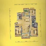华侨城3室2厅2卫119平方米户型图