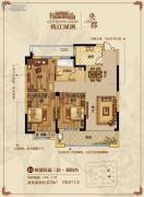 钱江绿洲3室2厅1卫117平方米户型图
