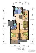兰若・岭秀2室2厅1卫110平方米户型图