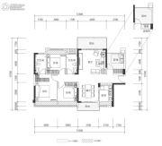 壹城中心4室2厅2卫118平方米户型图