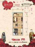 海悦花园1室1厅1卫44平方米户型图