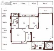 玉兰湖庭3室2厅2卫122平方米户型图