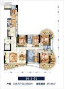 中信红树湾5室2厅4卫295平方米户型图