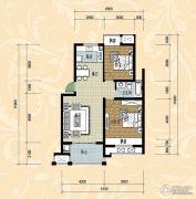 国际华城四期2室2厅1卫80平方米户型图