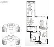 永通公馆3室2厅1卫106平方米户型图